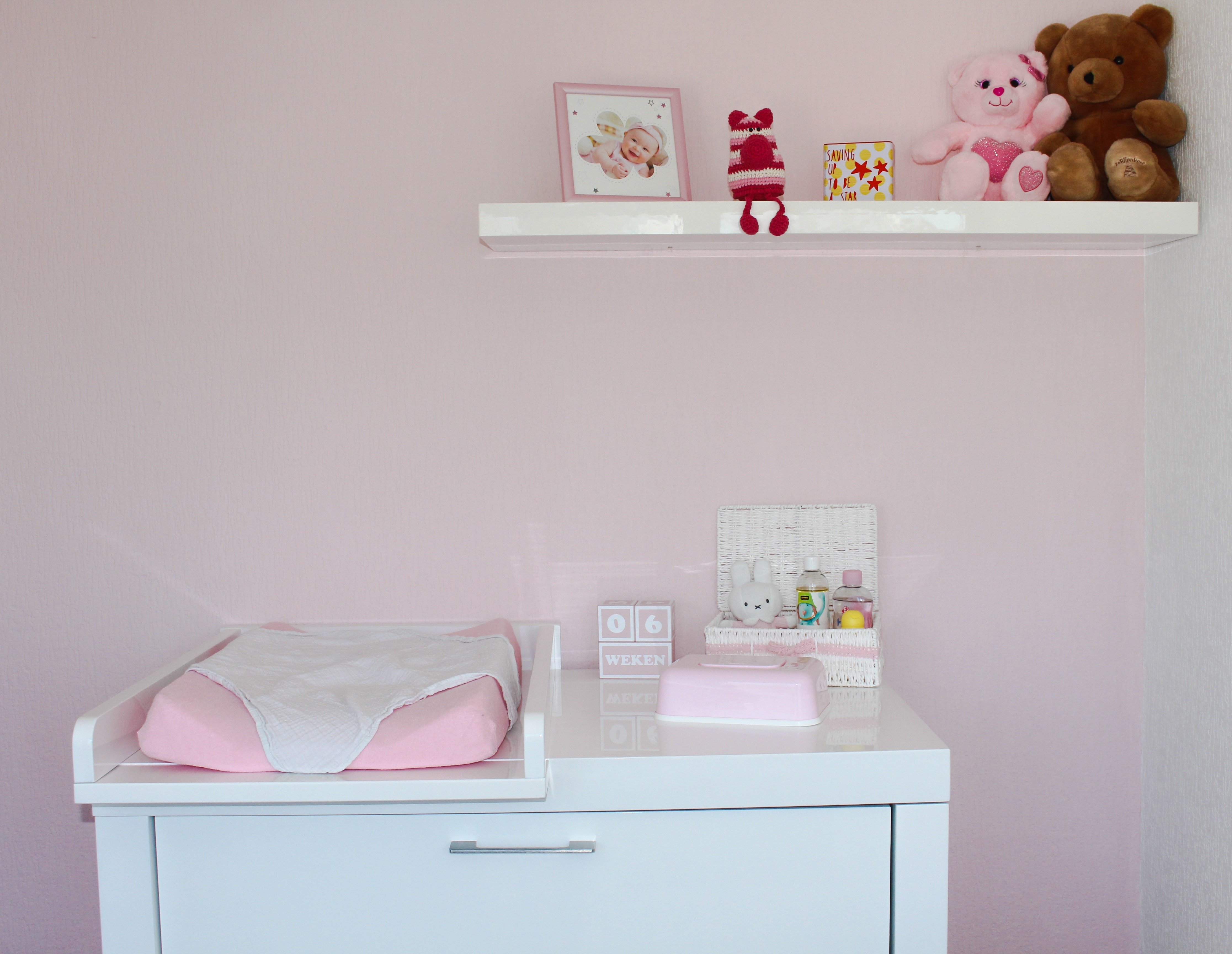 Decoratie Meisjes Babykamer.Babykamer Meisje Zo Ziet De Kamer Van Fenna Eruit